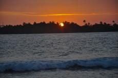 soncni zahod Maldivi