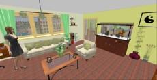 dnevna soba nacrtovanje akvarija883