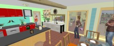 kuhinja in akvarij