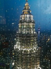 Petronas Twin Towers na vrhu