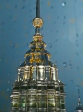 Petronas Twin Towers on the top
