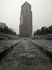 Petronas Twin Towers rain Kuala Lumpur