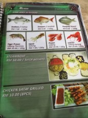 prices seafood on Langkawi
