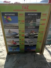 prices watersports activities Langkawi