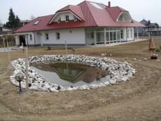 postavitev ribnika